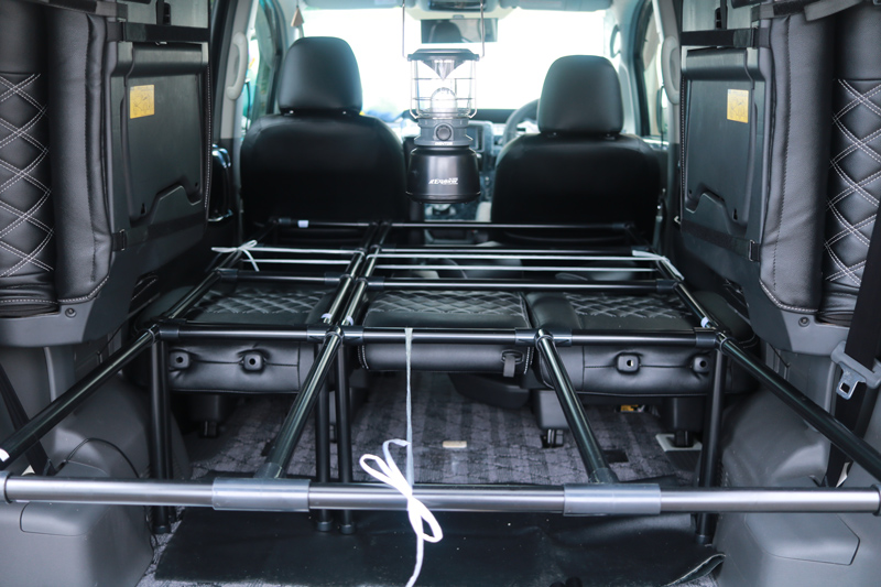 【DIY】車(NOAH70系)にベッドキットを自作してみた_09